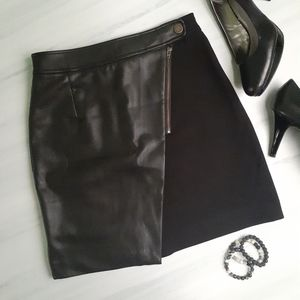 2/$30 ❤ Joe Fresh Vegan Leather & Stretch Skirt